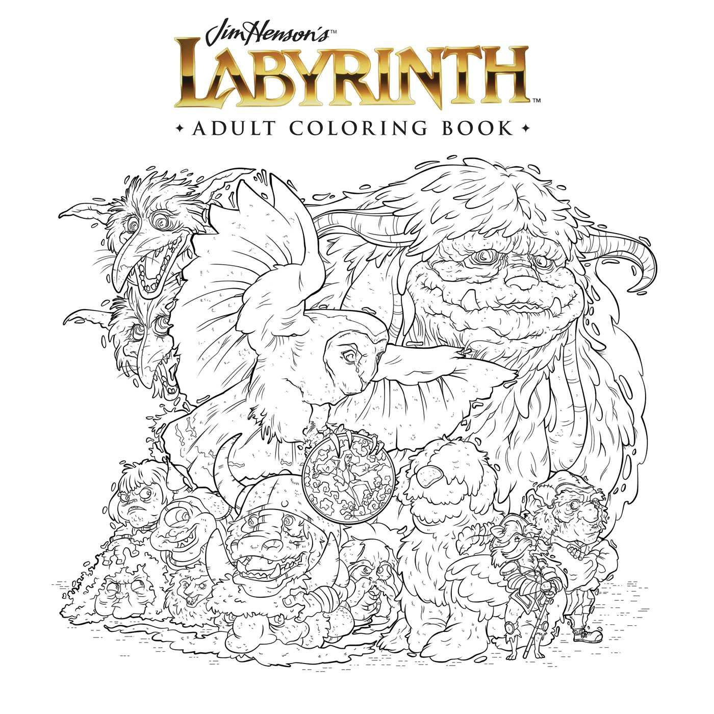 amazon com jim henson u0027s labyrinth coloring book