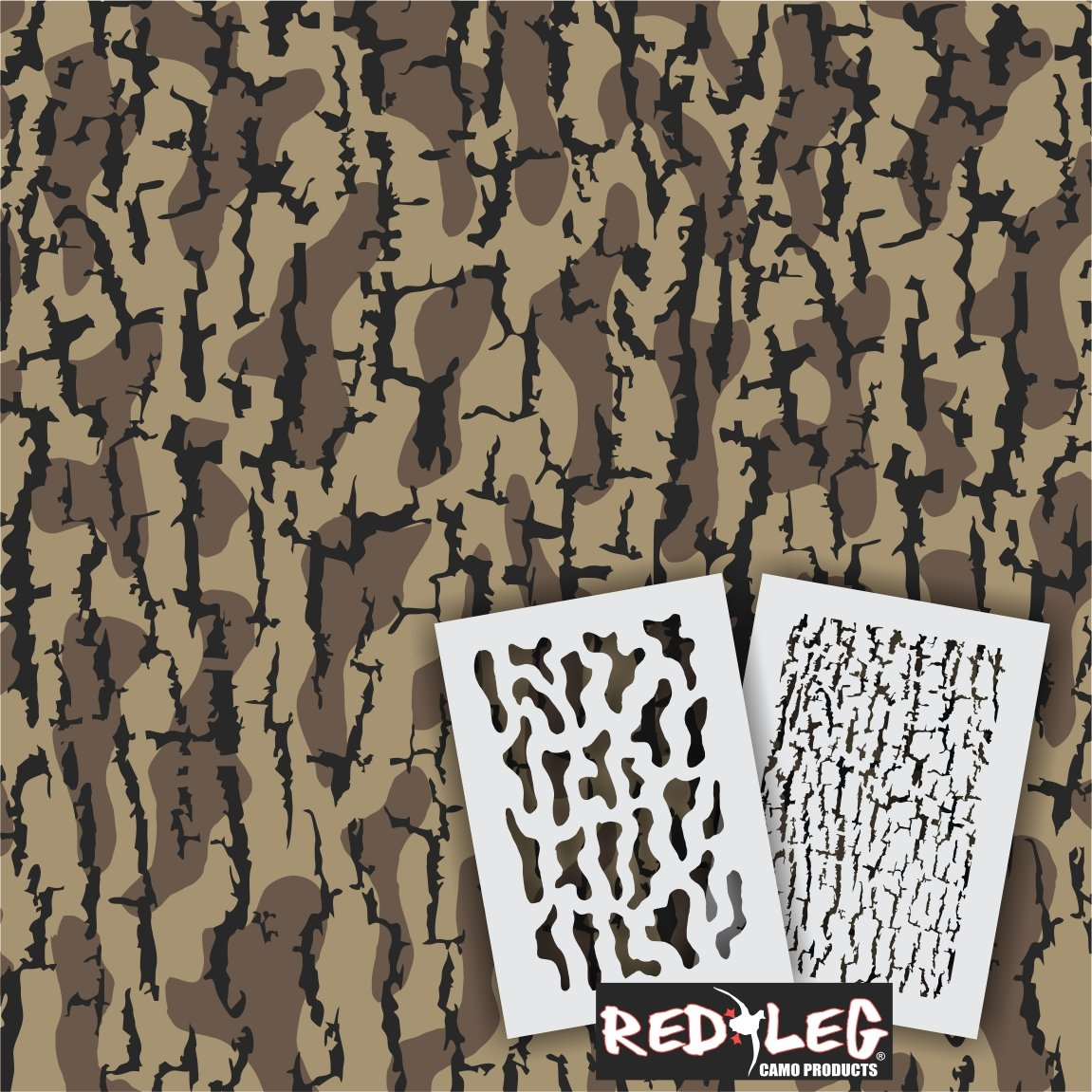 Redleg Camo THD Timber HD camouflage stencil kit