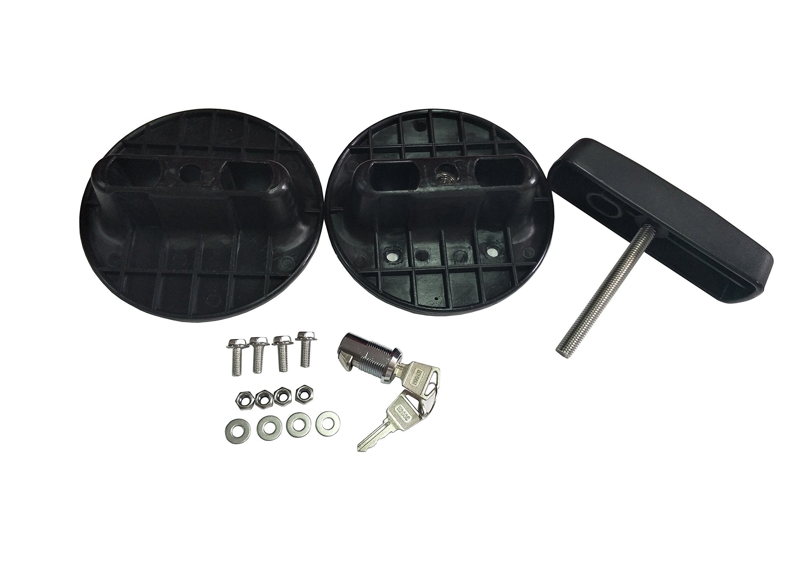 Black Fuel Pak Gasoline Oil Mounting Bracket Kit PM Pack Mount Lock Only Fit for SXMA 5 Gallon Fuel(2 Pack)
