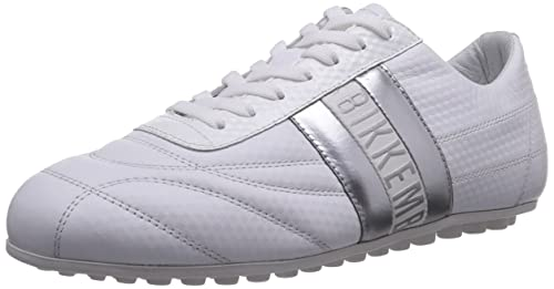Bikkembergs 840686 - zapatilla deportiva de cuero mujer, color blanco, talla 42: Amazon.es: Zapatos y complementos