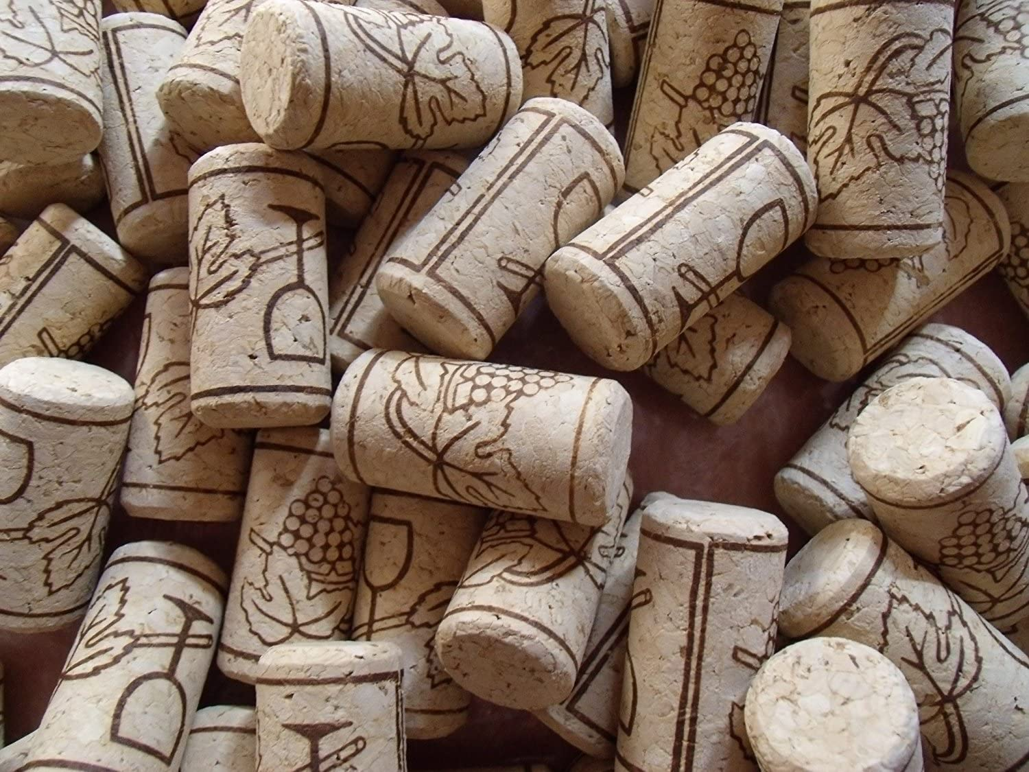 100 Goege Recycled Wine Corks,Natural Straight Softwood Wine Bottling Corks,Fits Most Bottles,Non-Leak Airtight Seal For Wine Making Craft,Chemical Free