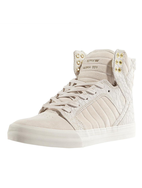 Supra Women's Skytop Sneaker B01MU9TPC6 5.5 B(M) US|Off-white/Off-white