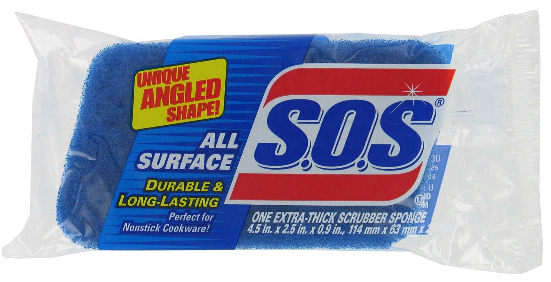 S.O.S 91017 All Surface Scrubber Sponge (Case of 12)