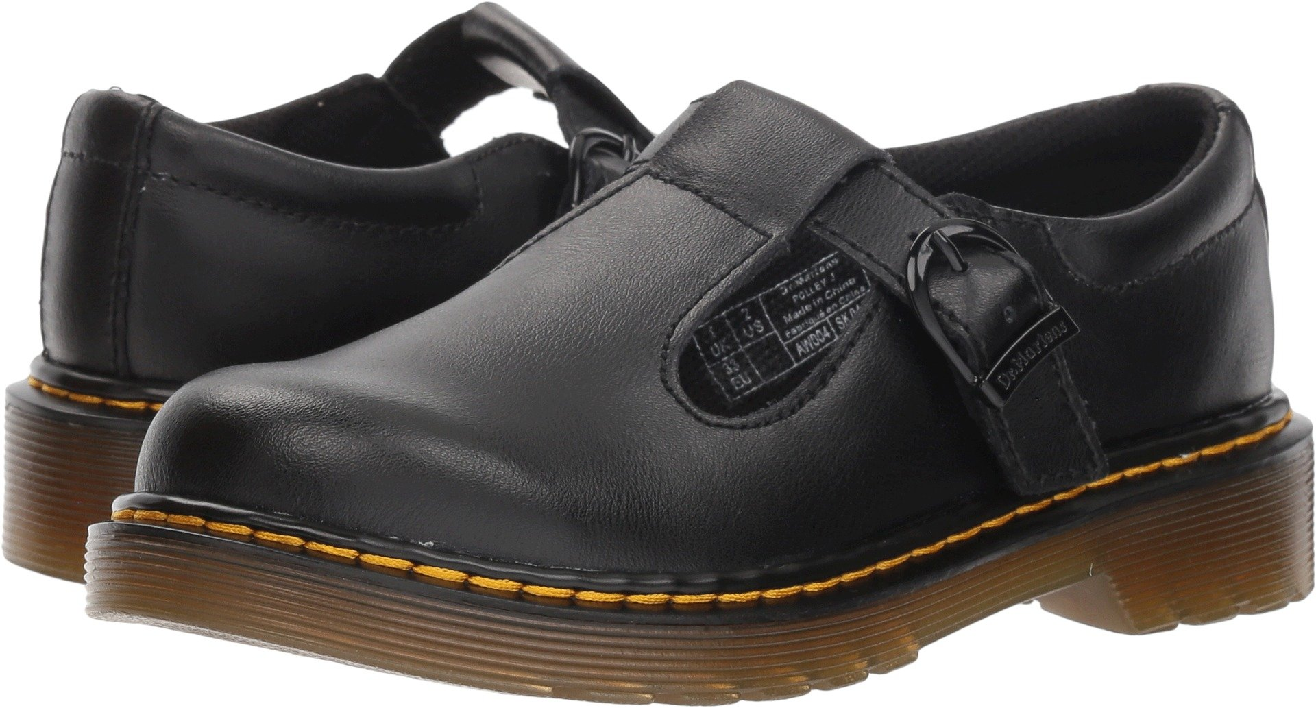 a9ad8522bfc3f Galleon - Dr. Martens Girls Junior Polley Black T Lamper Mary Jane School  Shoes Size 2
