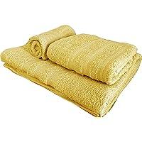 Juego de toallas de 3 piezas, 1 toalla de baño (100 x 150), 1 toalla de manos (55 x 105), 1 toalla de bidé (40 x 60…