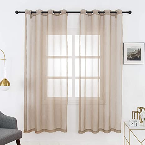 Bedroom Window Curtains Living Room Sheer Voile Sun Shading Curtain Home