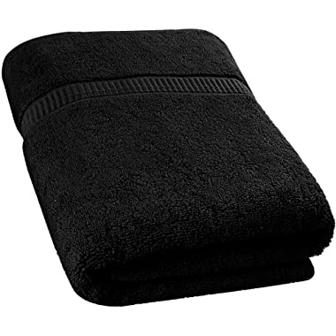Utopia Towels Extra Large Bath Towel (35 x 70 Inches) - Luxury Bath Sheet - Black