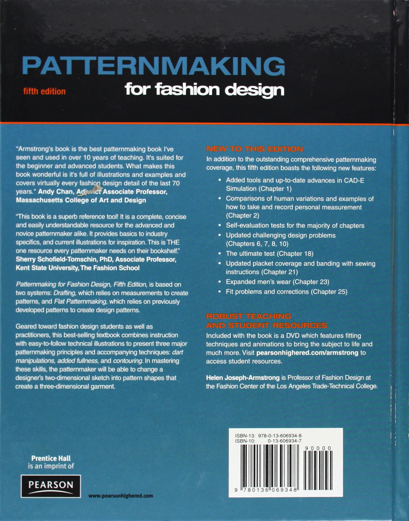 fashion design books for fashion students the best design books Amazon | Patternmaking for Fashion Design | Helen Joseph Armstrong | Sewing