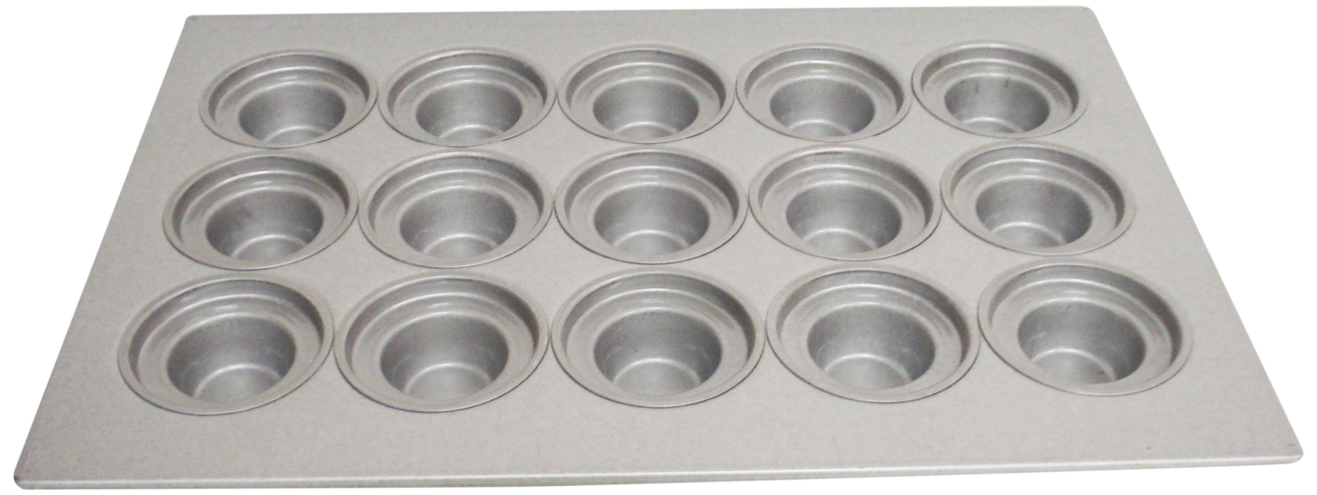 Magna Industries 15344 22-Gauge Aluminized Steel Crown Top Large Muffin Pan, 4-1/8'' Diameter, 3 x 5 Cups Layout (Pack of 6)