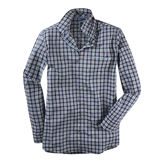 56c97ca23340 Redmond XXL Chemise à Carreaux à Manches Longues Jeans Bleu-Vert   Amazon.fr  Vêtements et accessoires