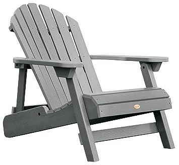 highwood hamilton folding and reclining adirondack chair adult size coastal teak
