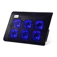 Base Refrigeración Portátil ELEPAWL Soporte Radiador de Laptop con 6 Ventiladores a 11,070 RPM, Diseño Ergonómico para Varios Portátiles y Portátiles de hasta 15.6 Pulgadas