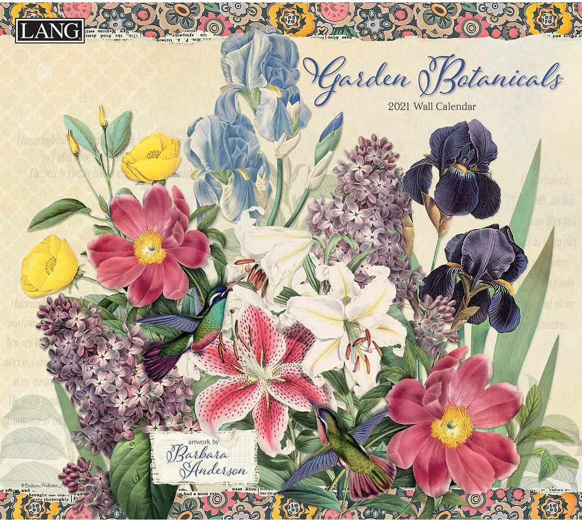 LANG Garden Botanicals 2021 Wall Calendar (21991002014)