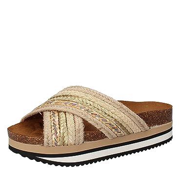 5 PRO JECT - Sandalias de vestir de tela para mujer