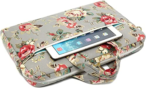 Canvaslove Laptop Umhangetasche mit 15 Zoll 38 1 cm wasserdicht mit Ruckprallblasenschutz Grau