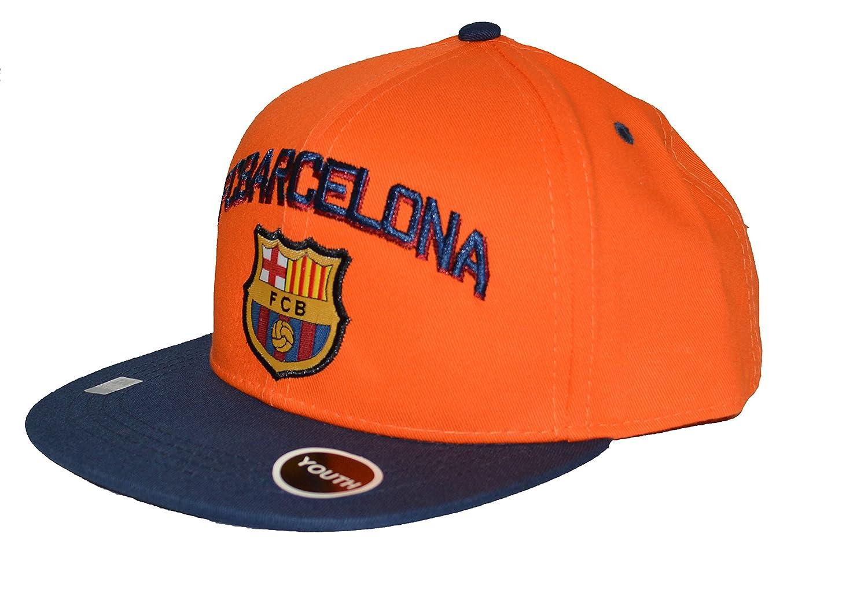 Amazon.com  Fc Barcelona Snapback Youth Kids Adjustable Cap Hat - Blue -  Orange - Red New Season  Clothing 357dc0c2cc5