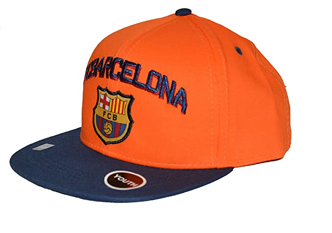 Amazon.com  Fc Barcelona Snapback Youth Kids Adjustable Cap Hat ... c0bf9a294e0c