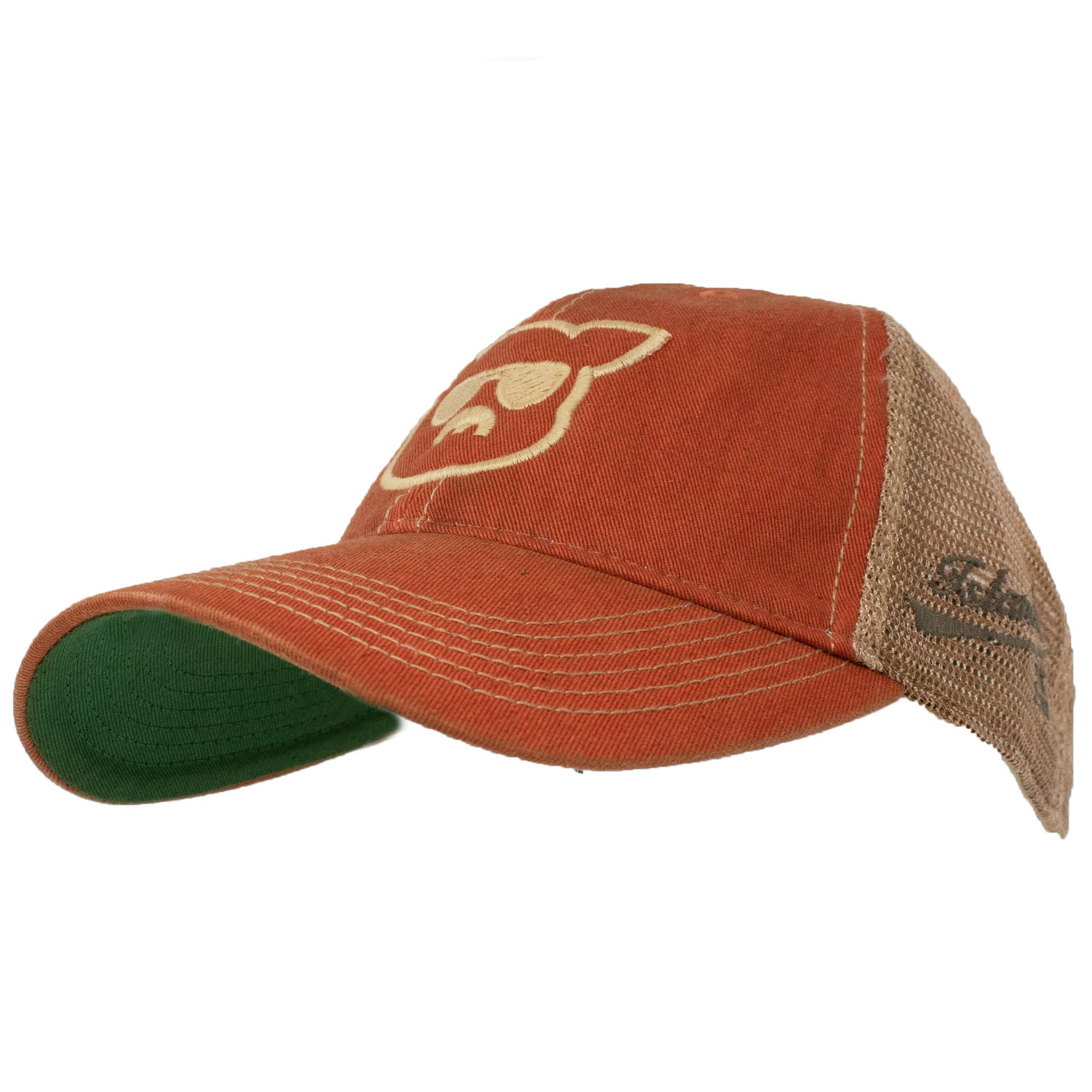 29448c86ea2a5f Islanders Pig Face Trucker Hat Mesh Snapback Vintage Feel, Orange, One Size