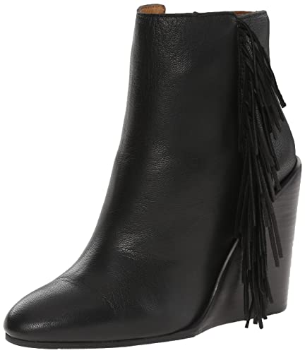 Amazon.com | See By Chloe Women's Wedge Ankle Boot with Fringe ...