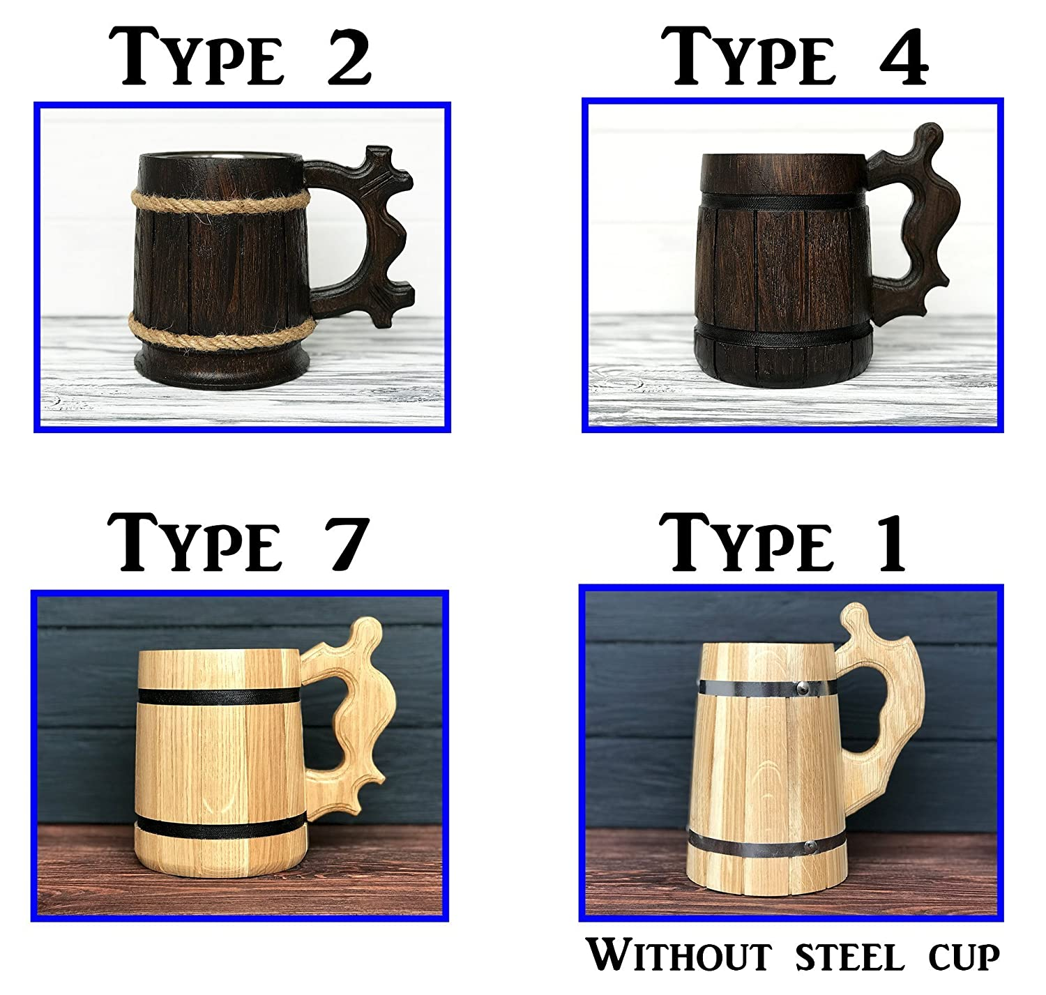 Best Gift D/&D Gift Gamer Wooden Beer Mug Dungeon and Dragons Mug Personalized Gamer Gift Beer Tankard Gift K86 Personalized Beer Stein
