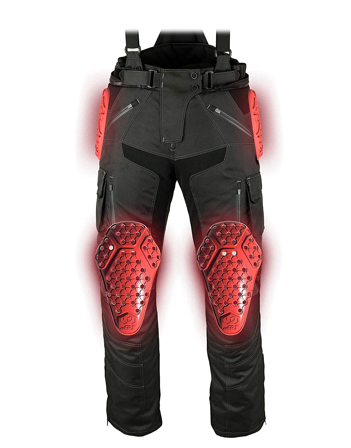 Set of 2 ,Red//One Size NSTAR Knee Protector,ARS Replacement Knee Pads AP-EVO-K,Street Motorcycle Riding Body Armor