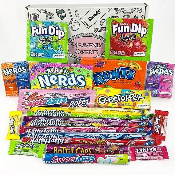 Cesta Americana caramelos Wonka | Golosinas y barra de caramelos de selección en caja regalo |