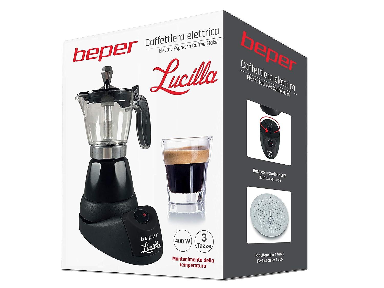 Beper BC.040N 3 Tazas Cafetera El/éctrica 400W