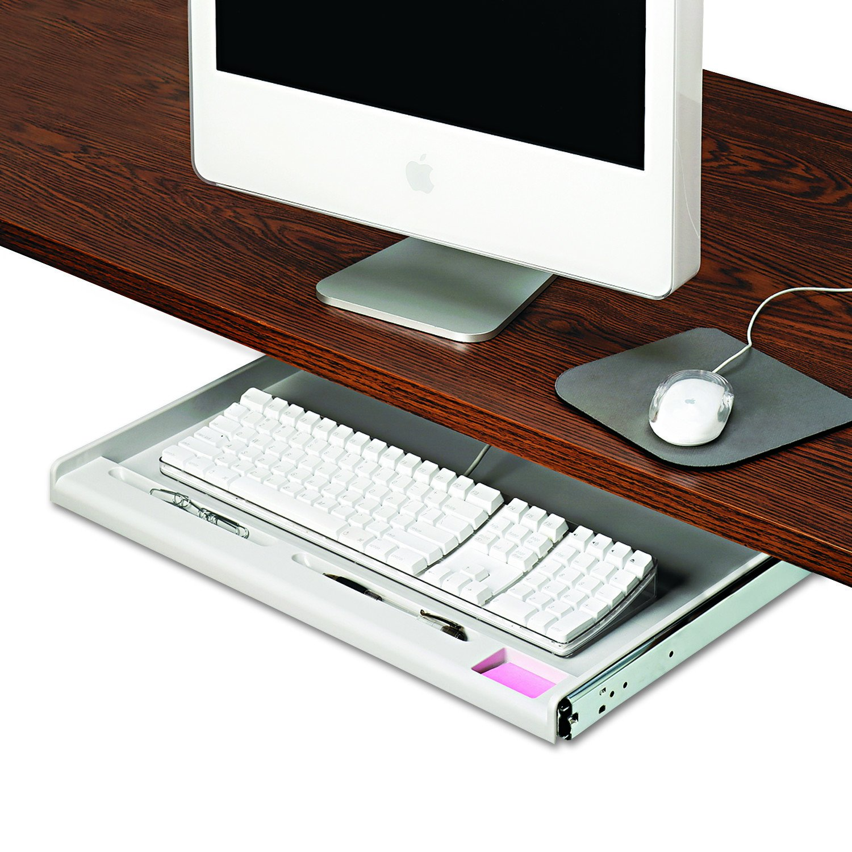 Alera Innovera 53000 Standard Underdesk Keyboard Drawer, 24-1/4w x 15-1/3d, Light Gray United Stationers