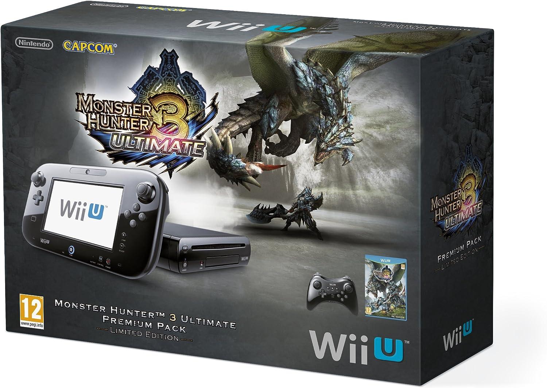 Nintendo Wii U 32GB Monster Hunter 3 Ultimate Premium Pack - Black  (Nintendo Wii U): Amazon.co.uk: PC & Video Games