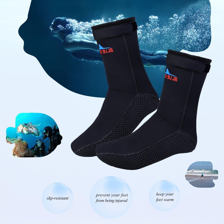 Sibba 3mm Neopreno Agua Antideslizantes Calcetines de Buceo Surf Natación Botas Deportivas talla 36-47 (negro, L): Amazon.es: Deportes y aire libre