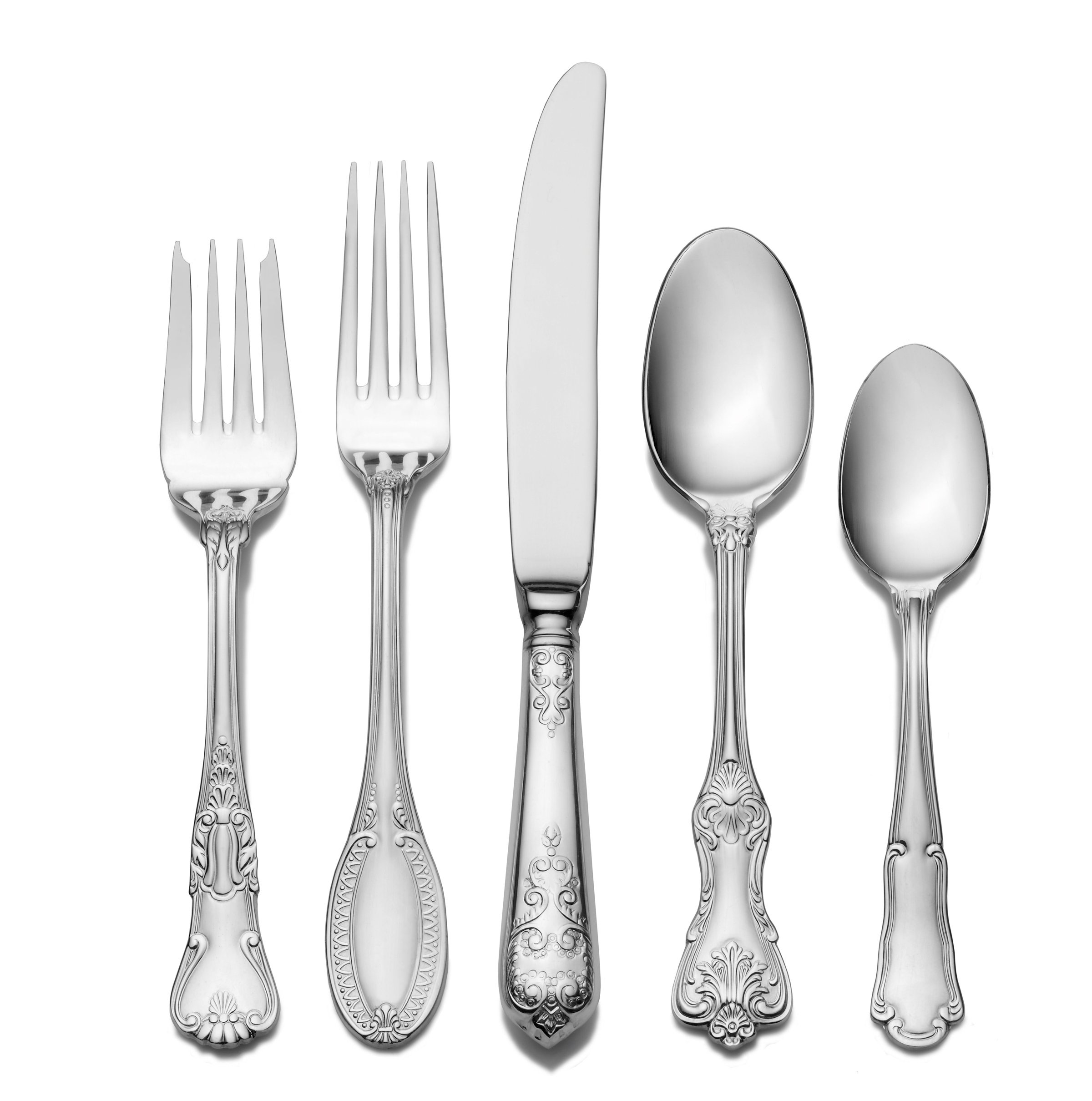 Wallace Hotel Lux 77-piece 18/10 Stainless Steel Flatware Set