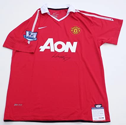 26bdc436fa70 Wayne Rooney Autographed Jersey - red Coa Ad74537 - PSA DNA Certified - Autographed  Soccer Jerseys at Amazon s Sports Collectibles Store