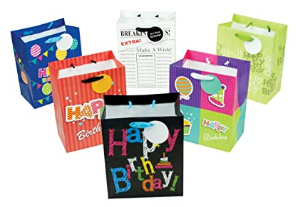 Amazon 12 Piece Small Designer Birthday Gift Bags 95 X 775