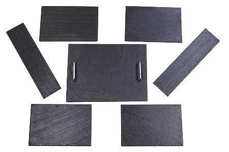 Izasur-Spain Número 1 Composición de Mesa, Piedra, Negro, 40x30x4 ...