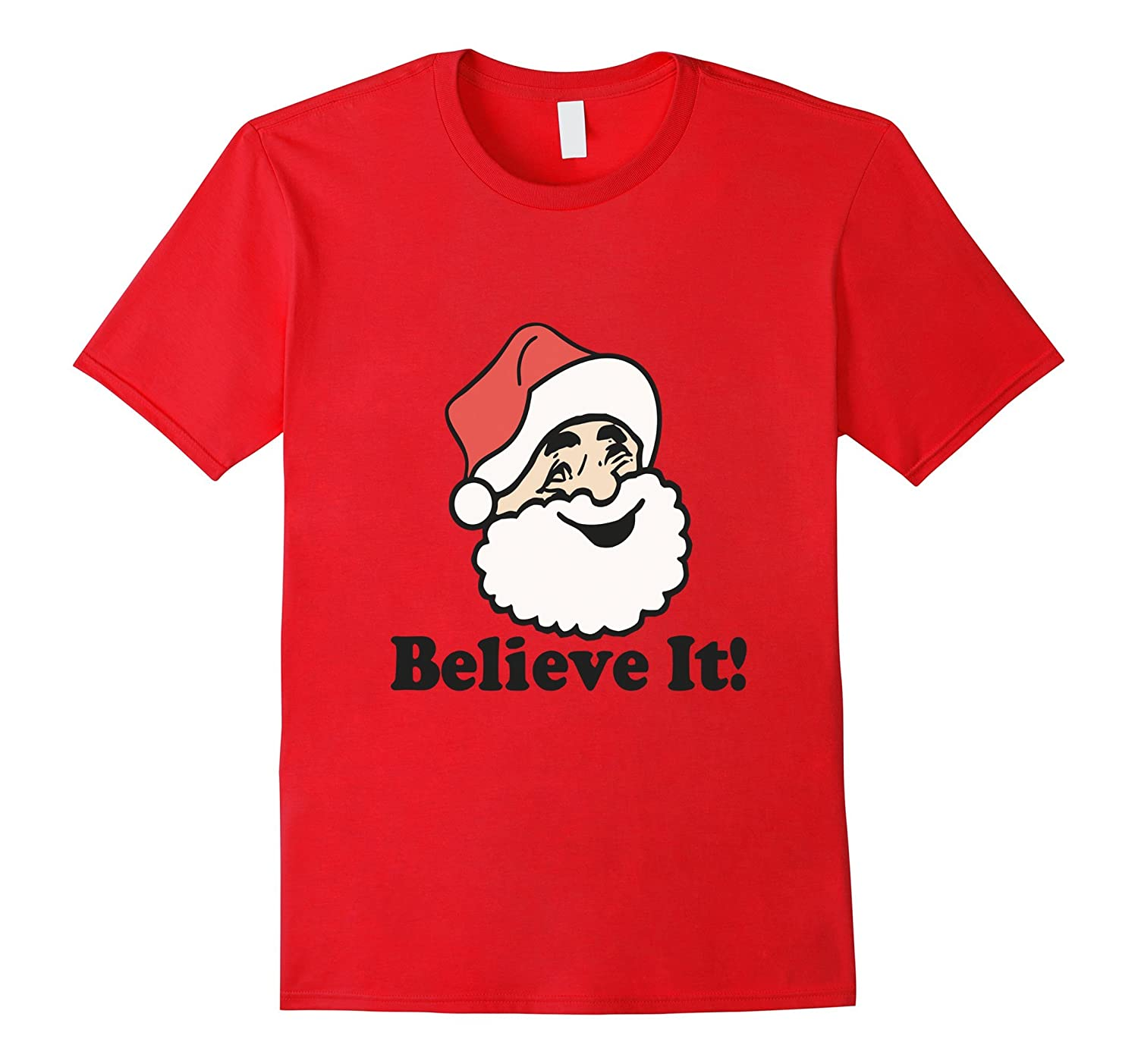 I Believe Christmas Jingle Bell T-Shirt-Art