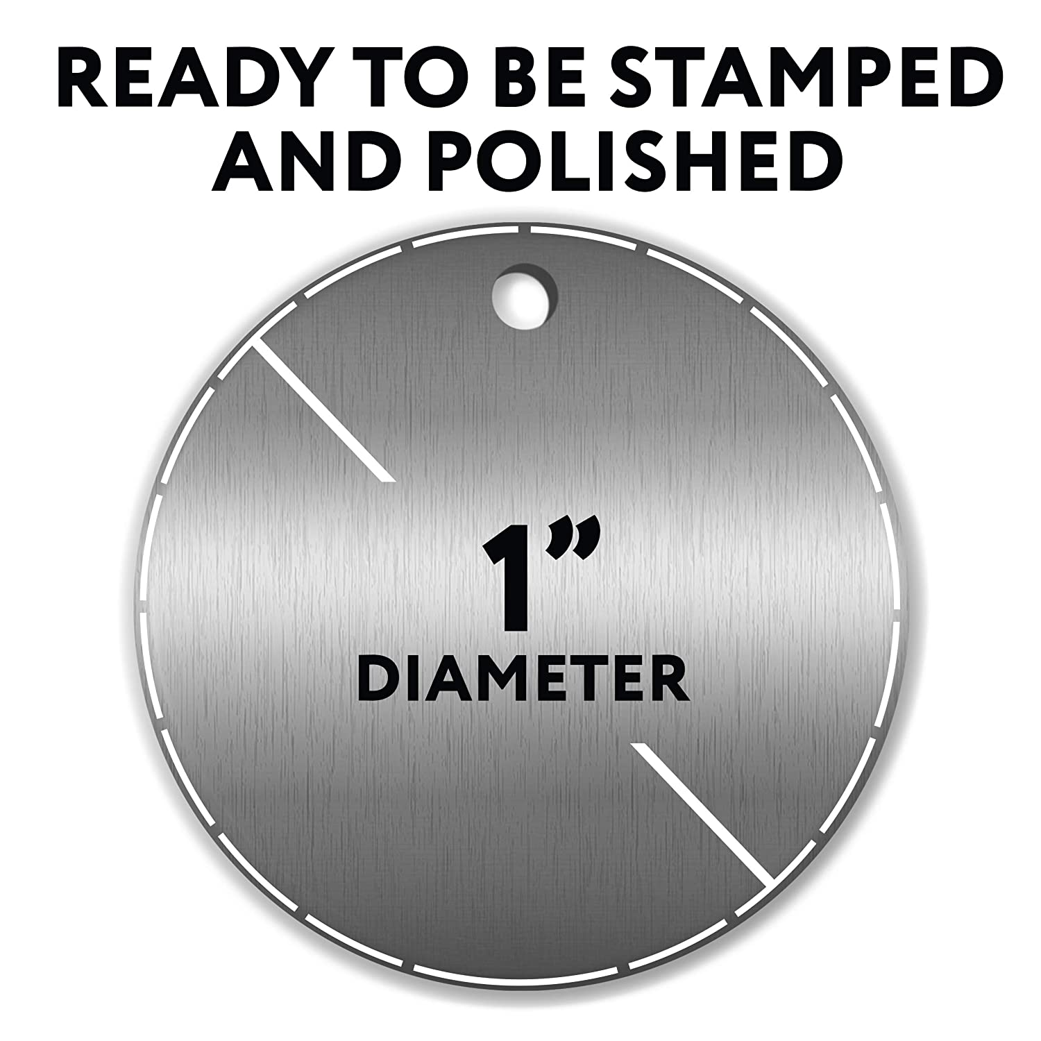 - Protective Film on Both Sides! 1 Inch Round with Hole 14 Ga. 50 Pieces Stamping Blanks Aluminum 0.063 Inch