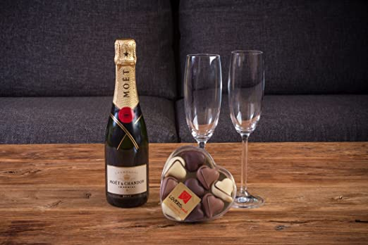 BUBBLE PACK ROMÁNTICO CHAMPAGNE MOËT & CHANDON 37,5 CL. Y ...