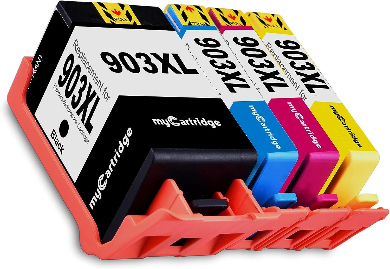 MyCartridge 4 compatibles HP 903 XL 903XL Cartuchos de Tinta ...
