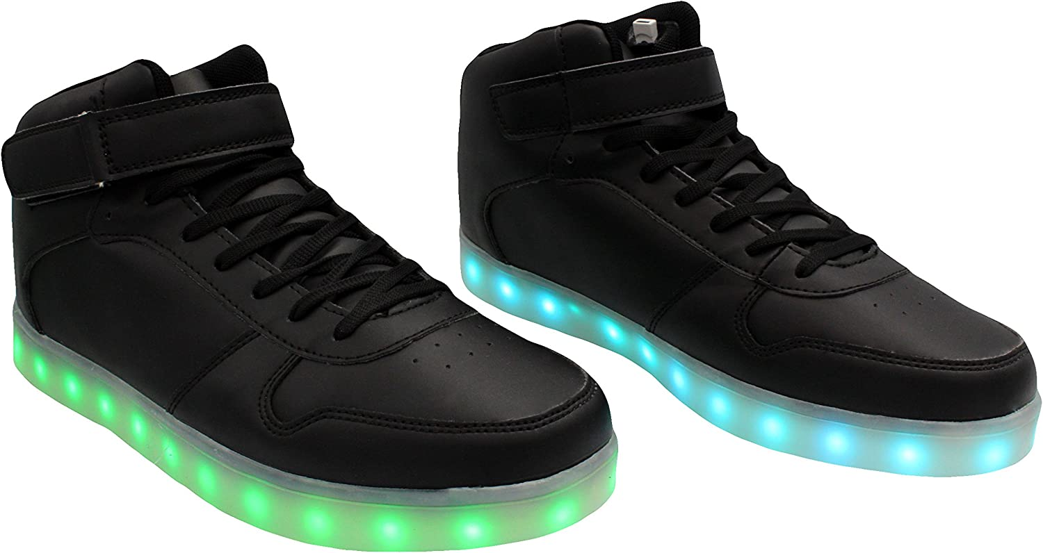 Transformania Toys Galaxy LED Shoes Light Up USB Charging High Top Lace /& Strap Sneakers