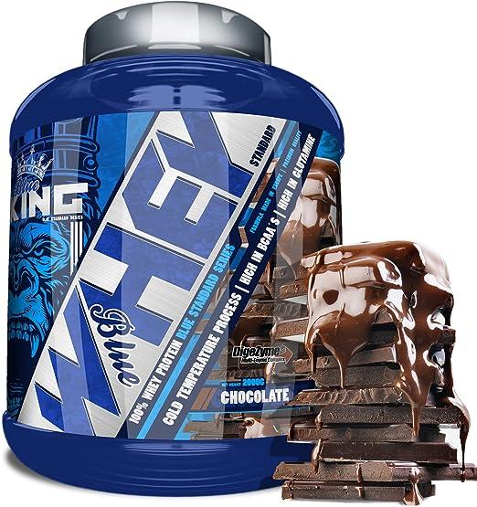 BLUEKING SUPPLEMENT, Whey Protein, Proteína en polvo, Suplementos deportivos, Blue Whey Standard Protein - 2kg (CHOCOLATE)