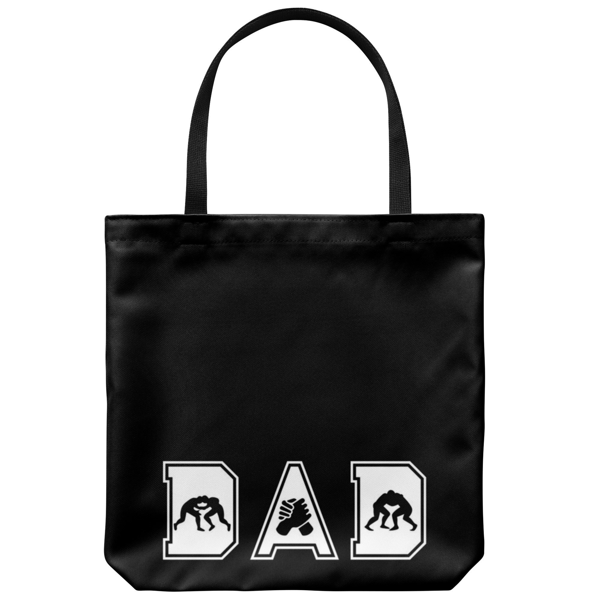 Wrestling Dad Canvas Tote Bag Funny Father's Day Wrestler Gifts Proud - Graphics