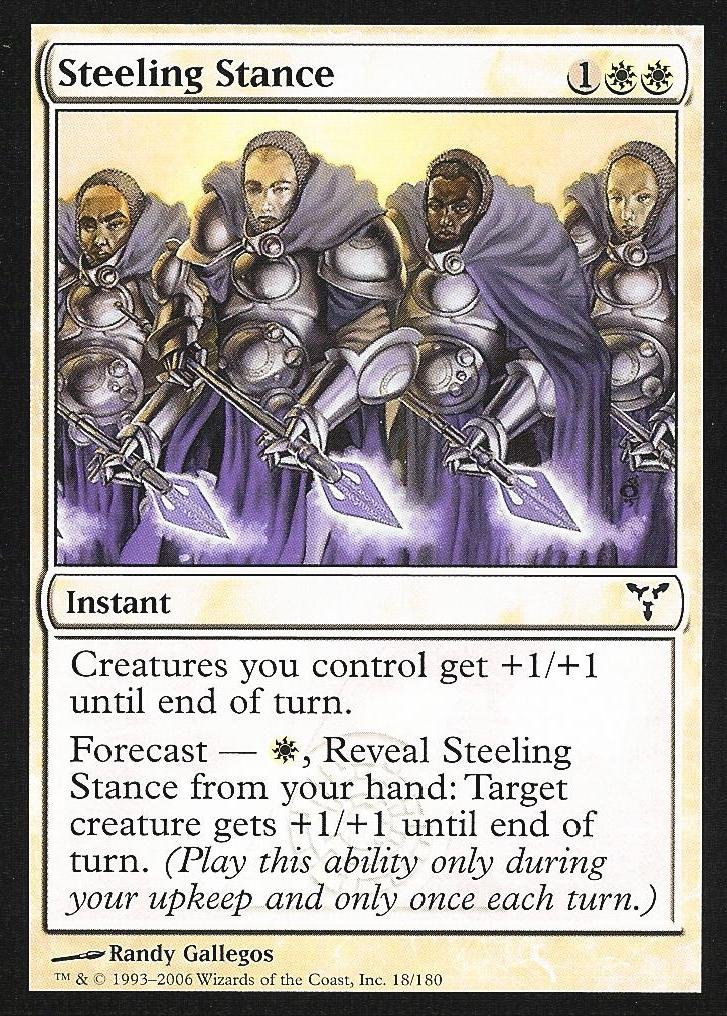 Magic the Gathering: Steeling Stance (Foil) - Dissension