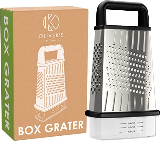 New Stainless Steel Multi Function Grater With Handle /& Container
