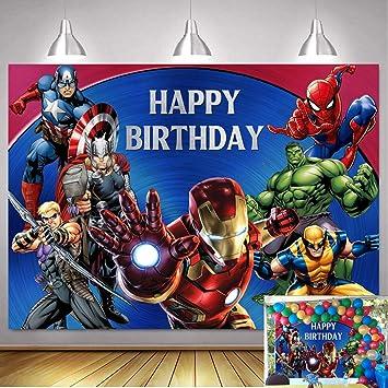 Superhero Batman Newborn Digital prop Background Backdrop Thor Hulk Superman Captain America Iron Man