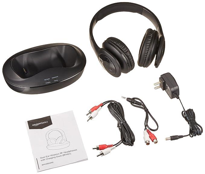 AmazonBasics - Auriculares (inalámbrico RF Auriculares con Base de Carga: Amazon.es: Electrónica