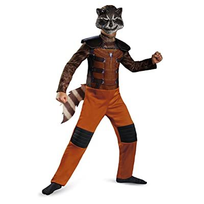 Disguise Marvel Guardians of The Galaxy Rocket Raccoon Classic Boys Costume, Small/4-6: Toys & Games