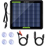 ECO-WORTHY 12 Volts 5 Watts Solar Trickle Charger for 12V Batteries Portable Power Solar Panel Battery Charger Backup for Car