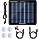 ECO-WORTHY 12 Volt 5 Watt Solar Trickle Charger for 12V Batteries Portable Power Solar Panel Battery Charger Maintainer…