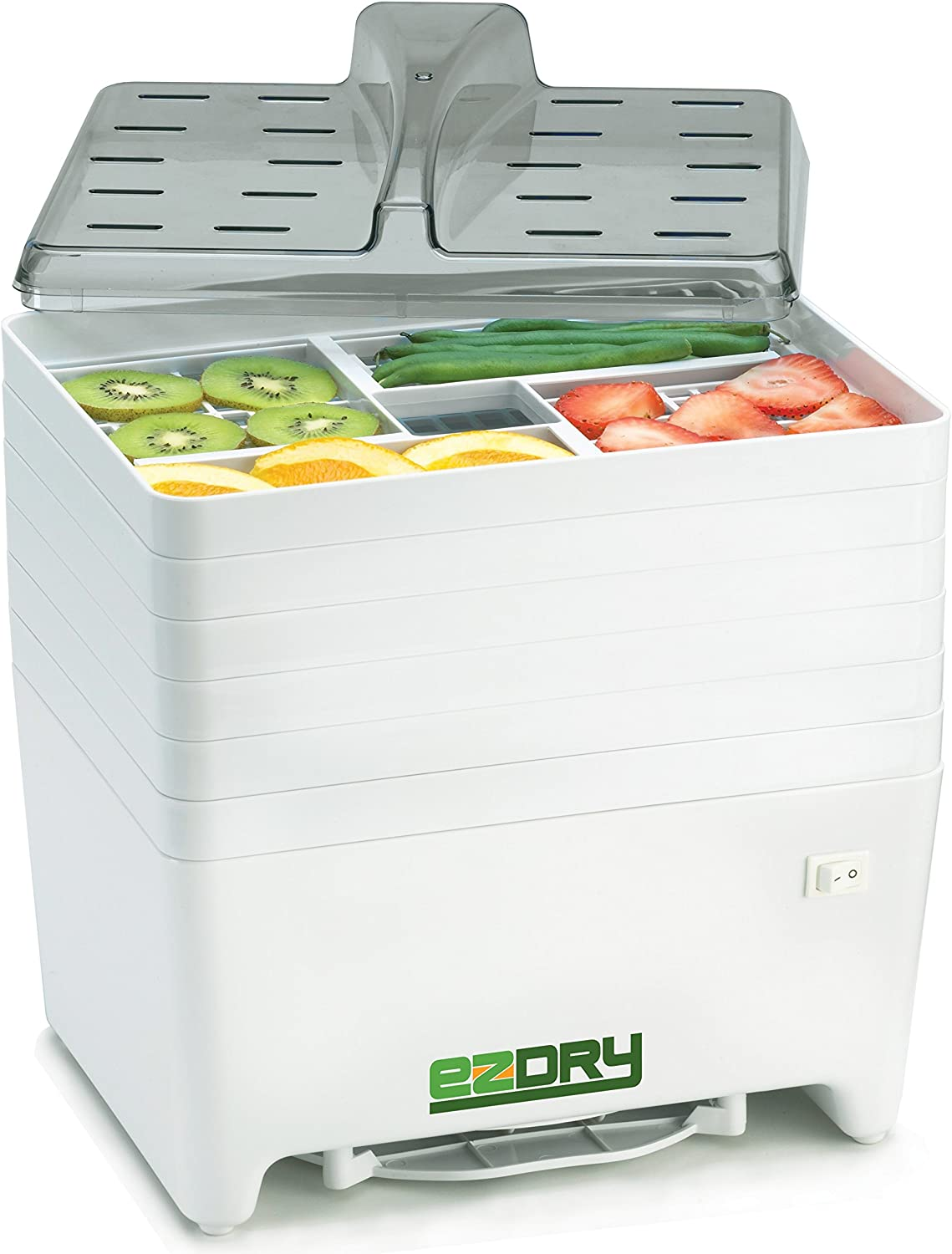 Excalibur EPD60W EZ Dry 6-Tray Stackable Electric Food Dehydrator Features a Constant Temperature of 120 to 165 Degree Fahrenheit BPA Free, 6-Tray, White