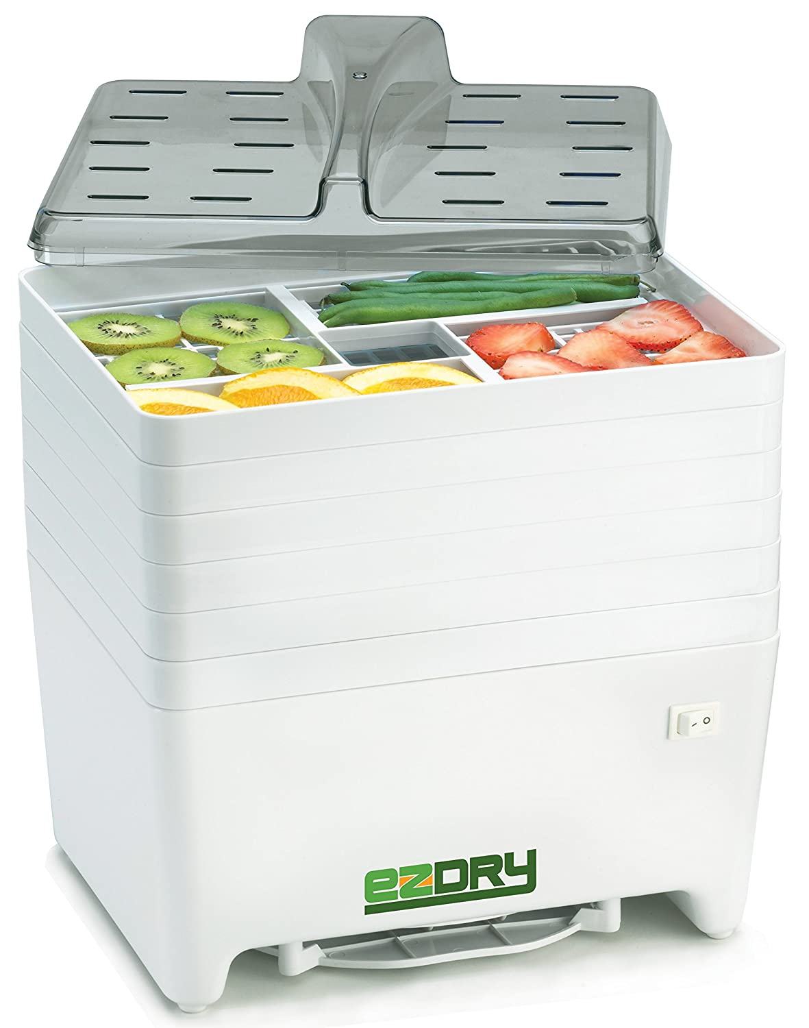 Excalibur EPD60W EZ Dry 6-Tray Stackable Electric Food Dehydrator Features a Constant Temperature of 120 to 165 Degree Fahrenheit BPA Free, White The Legacy Companies USA